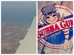 chicago, bubba gump, shrimp, lexington, girl, reading, highlights