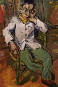 Man, Melancoly, 1990, Zeng Fanzhi